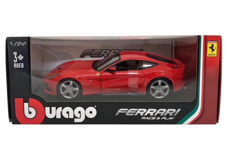 ブラーゴ 1/24スケール「フェラーリF12ベルリネッタ」(レッド)Race & Playシリーズ