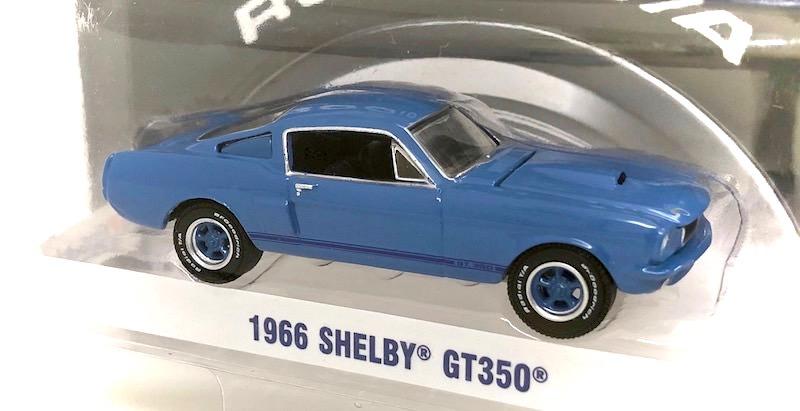 グリーンライト 1/64スケール「1966 シェルビー GT350」(ブルー)
