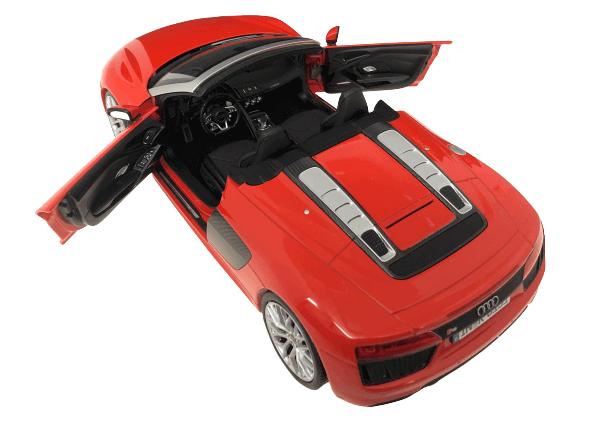 AUDI SPORT特注 1/18スケール「アウディR8スパイダー V10」(ダイナマイトレッド)ミニカー
