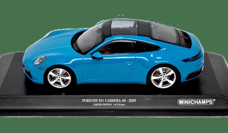 ミニチャンプス 1/18スケール「ポルシェ911(992)カレラ4S 2019」(ブルー)