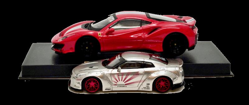 1/64スケールミニカーと1/43スケールミニカーの比較画像2