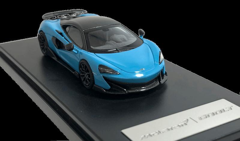アオシマ/LCD MODELS 1/64スケール「マクラーレン600LT」(キュラソーブルー)ミニカー