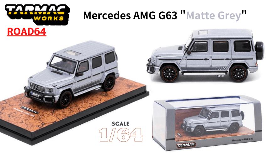 TARMAC WORKS 1/64スケール「メルセデスAMG G63」(マットグレー)ミニカー
