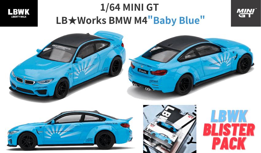 1/64スケール MINI GT「LB★WORKS BMW M4」(ベイビーブルー)ミニカー
