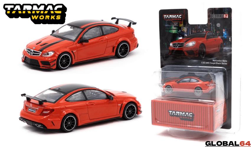 TARMAC WORKS 1/64スケール「メルセデスベンツ C63AMGクーペ ブラックシリーズ」(レッド)ミニカー